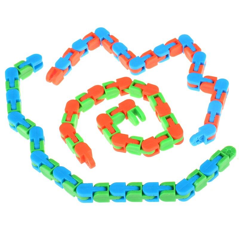 Sensory Toy Fidget-Toys Puzzles Autism Wacky Tracks Snake Snap Random-Color Kids Classic img3