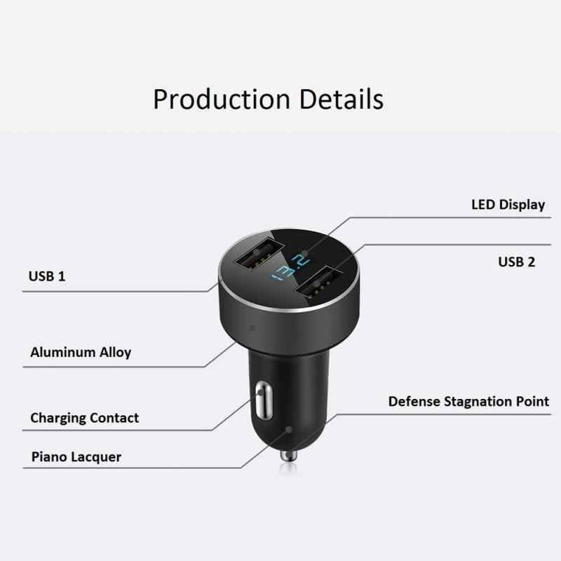 3,1 EIN Dual USB Auto ChargerAdapter Lighter12-24V Zigarette Buchse Leichter Schnelle Auto Ladegerät Power Adapter 2 Port LCD Display