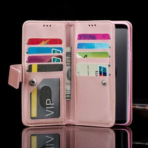 Image 2 - Bling Zipper Flip Leather Wallet Case For Samsung S20 Ultra Note10 Plus 5G S10E S9 S8 S10 Bumper M10 S7 edge Note8 Note9 Cover