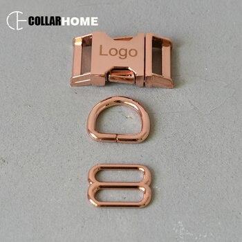 20 sets Engrave metal belt buckle 15mm D rings for bag dog pet collar DIY sewing accessories tri-glides sliders clip clasp hook