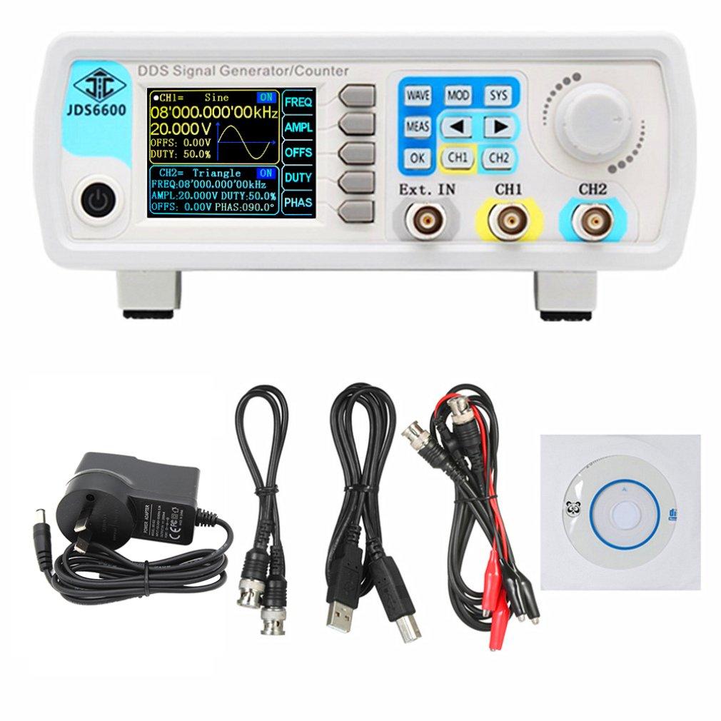 JDS6600 60 МГц цифровое управление DDS двухканальный произвольный сигнал генератор функциональных сигналов Высокоточный измеритель частоты