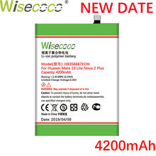 Wisecoco 4200mAh HB356687ECW Battery For Huawei Nova 2 plus 2i honor 9i huawei G10 Mate 10 lite Phone+Tracking Number