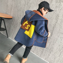 Boys Clothes Woolen Coat 2019 New Fashion Plus Velvet Thicken Warm Winter Jacket For 3-14T Boys High Quality