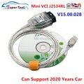 Новейшие Автомобильные диагностические кабели V15.00.028 MINI VCI OBD2 для TOYOTA TIS Techstream Mini-VCI FT232RL Chip J2534 OBDII, автомобильные разъемы