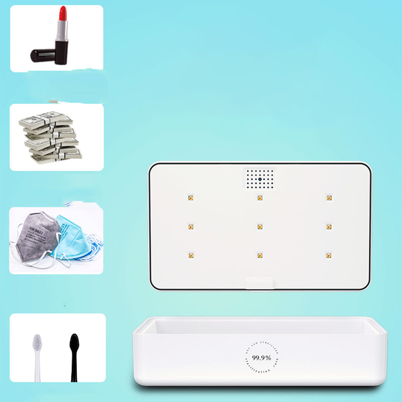 Multifunctional Sterilizer Lamp UV Mobile Phone Small Item Disinfection Box Intelligent Sterilization + Wireless Charger
