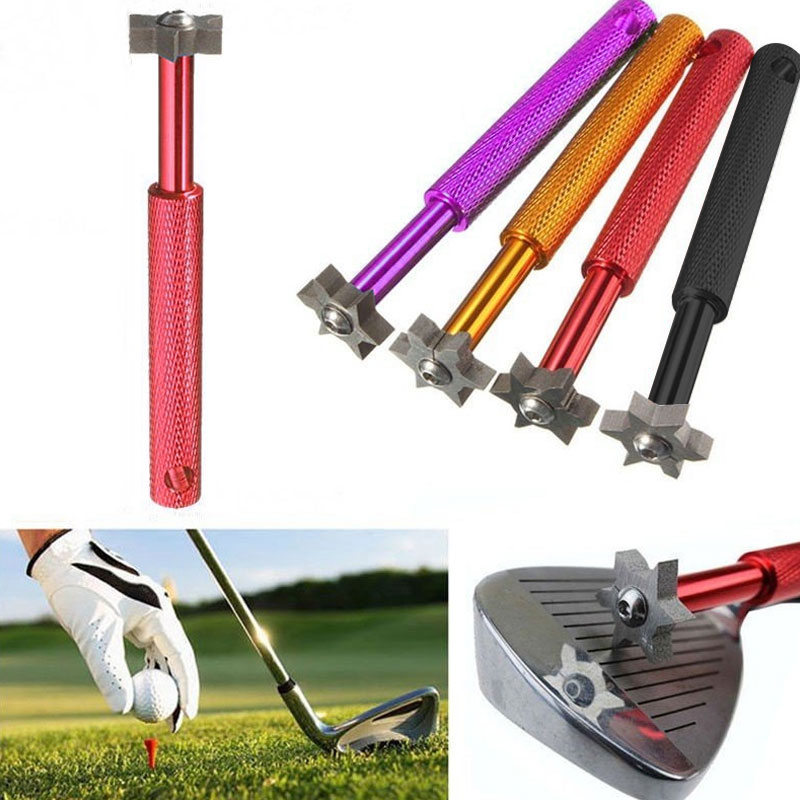 Stainless Steel Clear Trench Pen Golf Club Groove Sharpener Durable Golf Clearance Device Tool 5 Color Sturdy Cleaner
