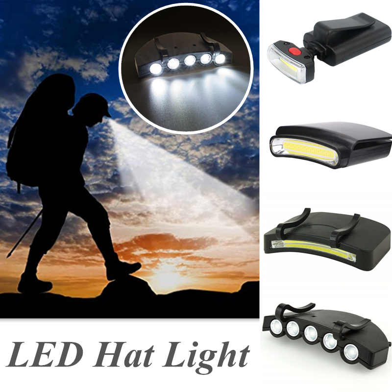 Outdoor Bright Waterproof LED Hat Light Headlamp Under Cap Clip-On Head Lamp Light For Walking Running Hiking Fishing  Camping