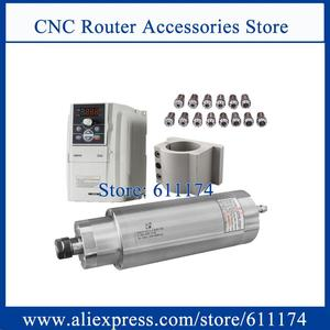 Image 1 - Low speed  milling spindle motor 1200 9000rpm 3Kw AC220V Water cooled + 3Kw VFD Inverter + 85w water pump + 105mm clamp