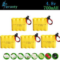700mah 4,8 v Batterie Für Rc spielzeug Autos Tanks Roboter Pistolen Ni-cd Akku AA 4,8 v 700mah Batterie Pack Für Rc Boot 5Pcs