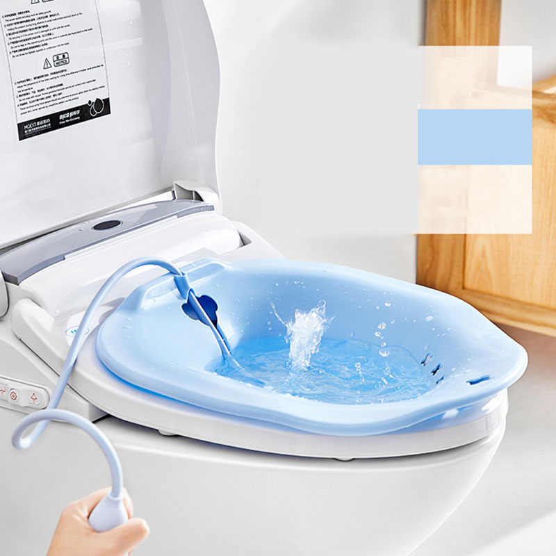 Portable Pregnant Woman Bidet Nursing Basin Kit Postpartum Hemorrhoid Washing Basin Sprayer On Toilet AXP007