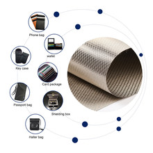 Boîtier Anti-Radiation en tissu Faraday, Protection Anti-Radiation, blocage du Signal EMF, 1 mètre, Protection EMI, Cage d'isolation RFID