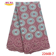 Hot Sale Dry Lace Fabrics High Quality Cotton Lace Fabr Onion Nigerian Lace Fabrics African Dresses For Women NA2266B 2