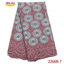 Venda quente tecidos de renda seca alta qualidade algodão rendas fabr cebola nigeriano rendas tecidos vestidos africanos para mulher NA2266B 2