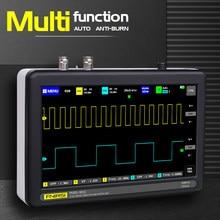 Ads1013d 2 canais 100mhz largura de banda 1gsa/s taxa de amostragem osciloscópio com cor tft lcd tela de toque osciloscópio digital