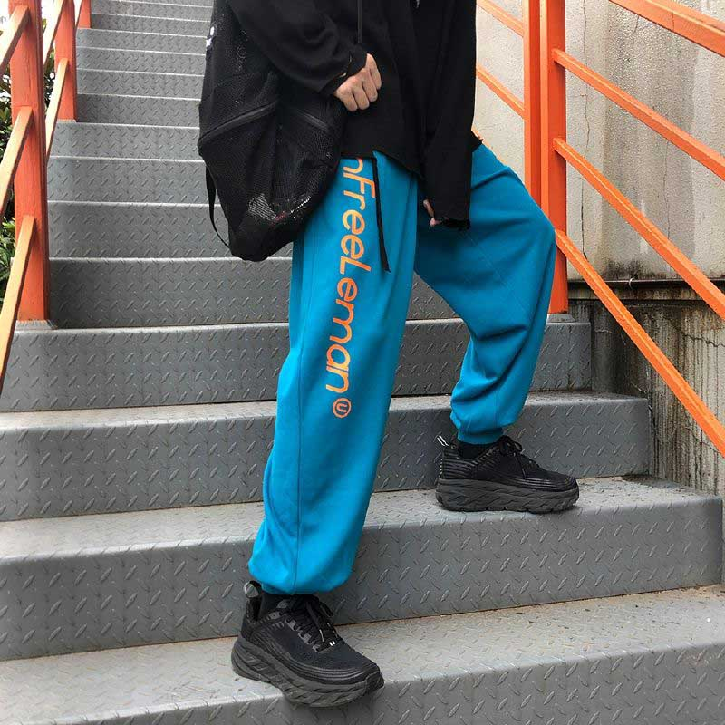 2020 Autumn Clothing New Style Couples Korean-style Trend Loose-Fit Beam Leg Capri Trousers Sweatpants Men And Women