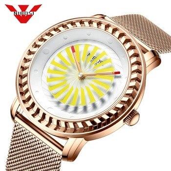 NIBOSI Fashion Quartz Watch Men Top Brand Luxury Creative Dial Casual Slim Mesh Steel Waterproof Sport Watch Relogio Masculino
