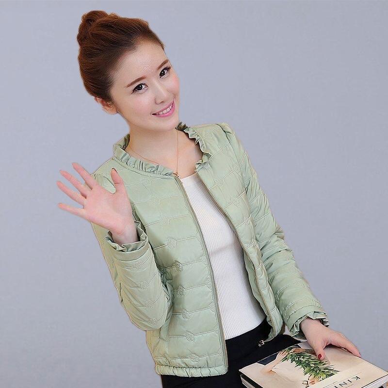 Autumn Winter Short Basic Jacket Women Casual Coats New Fashion Korean Style Slim Thin Cotton Parkas Ladies Outerwear Coats P136