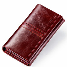 Multi-functional leather purse European and American leisure long hbag womens wallets  purses   wallet
