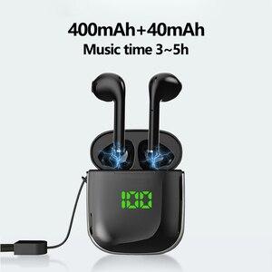 Image 2 - WK60 TWS kulaklık kablosuz bluetooth kulaklık müzik kulaklık kablosuz şarj kulaklık binoral HD çağrı kulaklık mikrofon ile