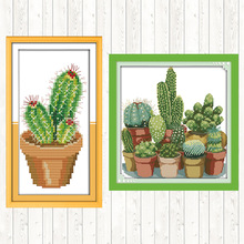 Embroidery-Kits Thread-Sets Cross-Stitch Needlework Cactus-Patterns Counted Joy-Sunday