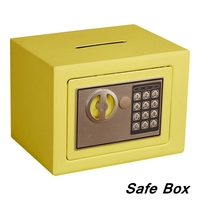 Security Alarm Portable Mini Safety Box Drop Cash Safe Box Jewelry Home Office Wall Type Security Alarm Box Anti theft