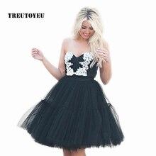 5 Layers 60cm Tutu Tulle Skirt Vintage Midi Pleated Skirts Womens Lolita Petticoat Bridesmaid Wedding faldas Mujer saias jupe