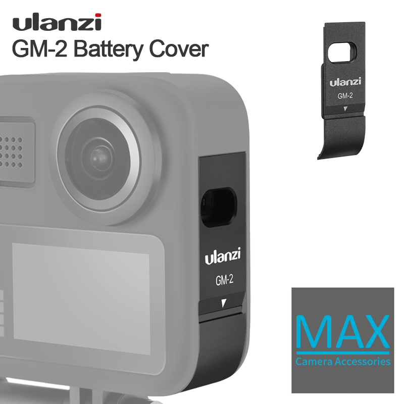 Ulanzi GM-2 Battery Cover for Gopro Max Perfet Fit GoPro Battery Cover with Charging Port