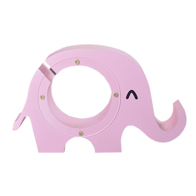Hucha Elefante Rosa Madera
