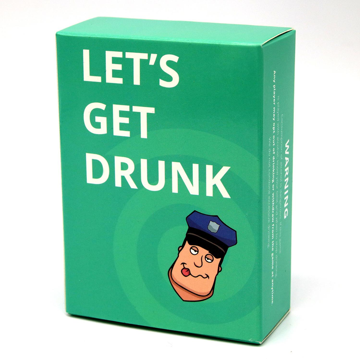 Let's Get Drunk Full English Drink Bar Party Card Game Buzzed