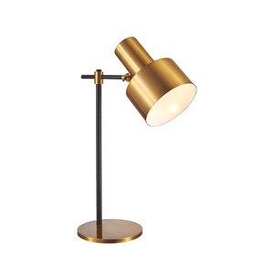 Современная железная Золотая креативная художественная настольная лампа-деко стеклянная Настольная лампа для учебы/прикроватная настоль...
