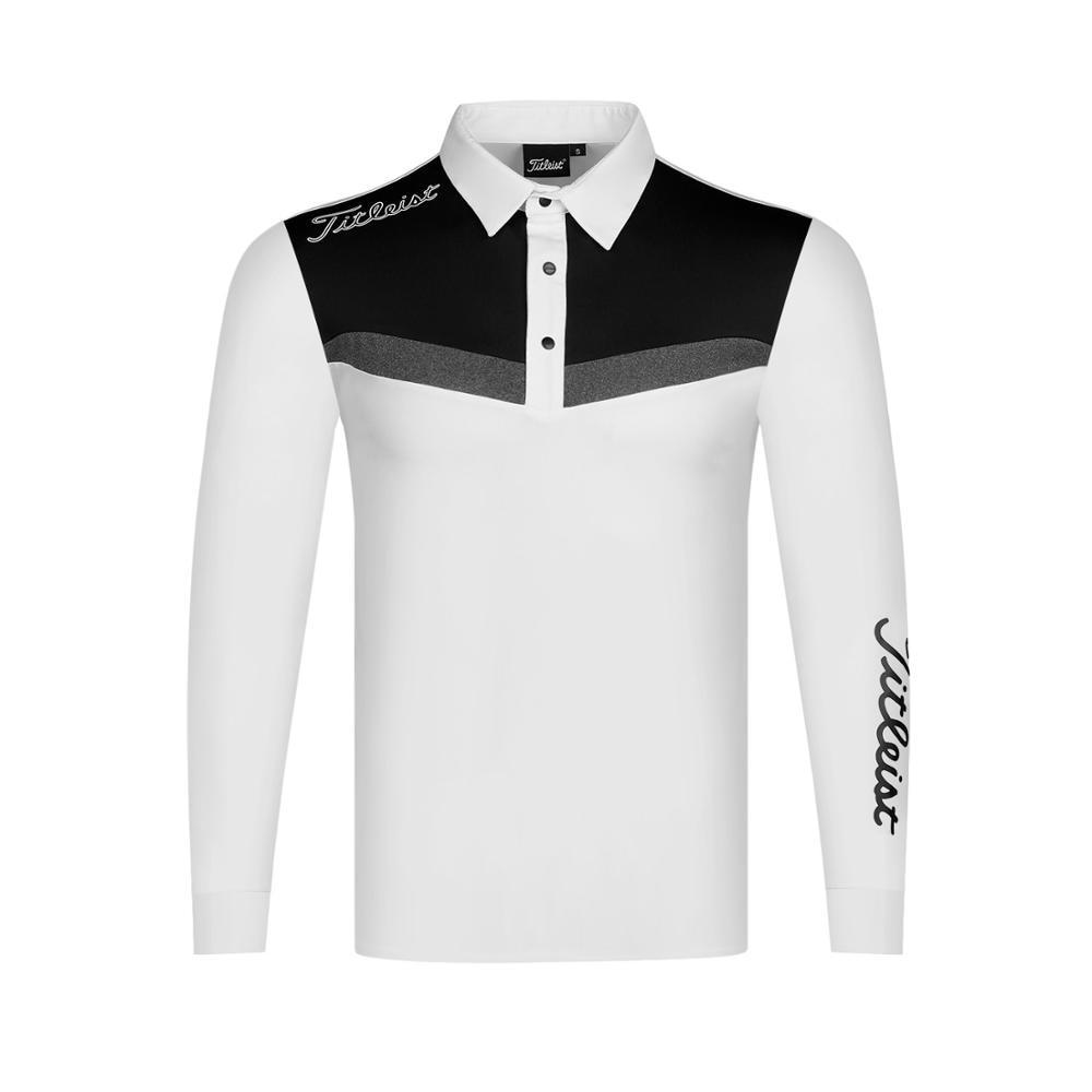 2020 otoño nueva ropa hombres golf Polo-shirt deportes golf manga larga - 4