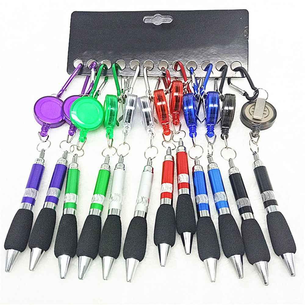 1Pc Leuke Intrekbare Badge Reel Balpen Riem Clip Sleutelhanger Met Karabijnhaak Sleutelhanger Lanyard Pen School Kantoor levert