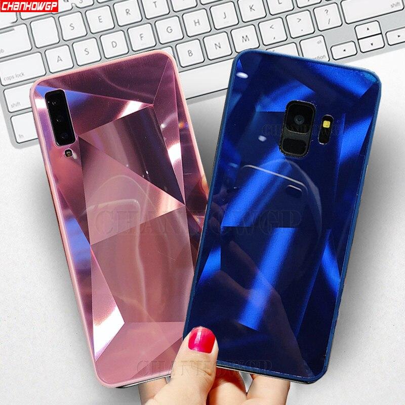 3D Mirror Diamond Case For Samsung Galaxy A70 A50 A30 A20 A10 S10e S10 S9 S8 J4 J6 Plus J8 2018 A9 A6 A7 2018 Note9 Soft Cover