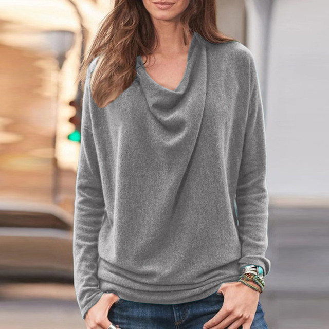 Long Sleeve Shirt Blusas Pullover 2