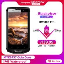 Blackview BV8000 Pro Smartphone FHD MTK6757 Octa-core Android 7,0 6GB RAM 64GB ROM 16MP Wasserdichte IP68 Typ C 4G Handy