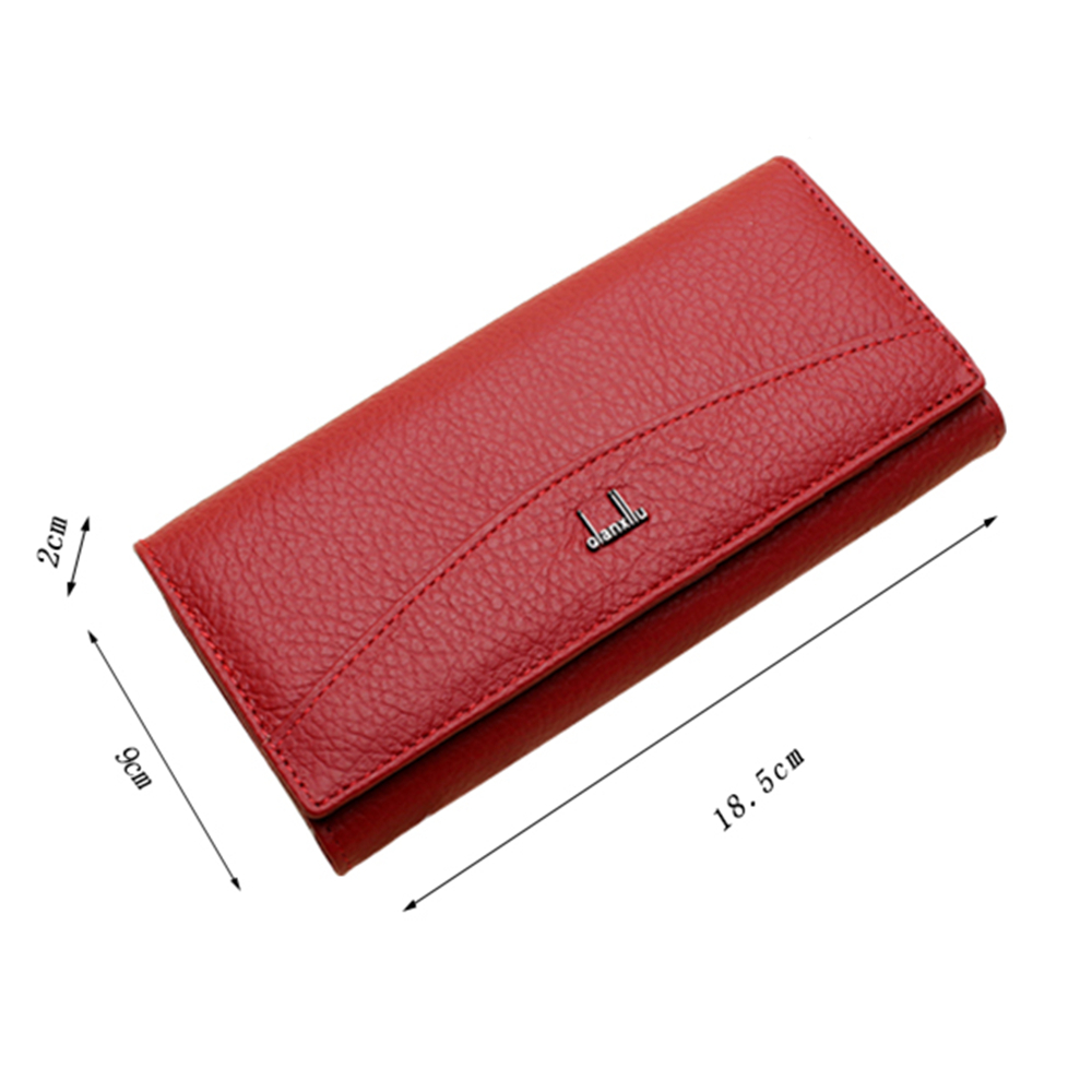 Image 5 - Qianxilu Brand Genuine Leather Wallet for Women,High Quality Coin Purse Female 2017leather wallet for womenbrand leather walletleather wallet -