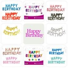16 дюймов буквы фольгированные шары «С Днем Рождения» Happy День рождения украшения Детские воздушные шарики с алфавитом Baby Shower поставки