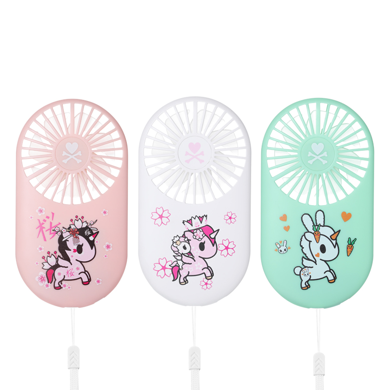 Tokidoki unicórnio handheld mini ventilador pequeno usb