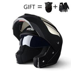 Capacete profissional para corrida, capacete de motocicleta com lente dupla e seguro, 2019