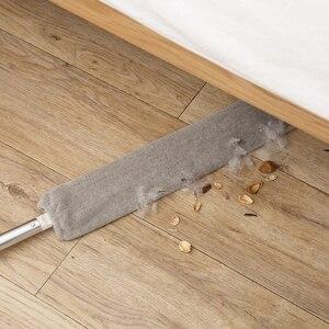Прикроватная щетка для пыли, швабра с длинной ручкой, артефакт, домашняя кровать, нижний зазор, чистые меховые волосы, подметальная пыльная ...