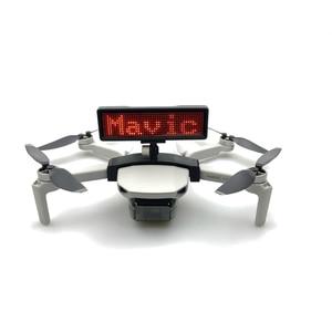 Image 2 - Billboard Display installation DIY Bracket For DJI Mavic Mini Quick Release LED badge bracket Drone Stand Accessories