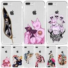 JOJO'S BIZARRE ADVENTURE OVER HEAVEN JoJo Anime phone accessories Case Cover Shell For iPhone XR XS MAX X 8 7 Plus 6 5 11 Pro