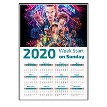Stranger things sezon 3 kalendarz plakaty naklejki na ścianę błyszczący papier wyraźny obraz dekoracja wnętrz kup 3 get 4