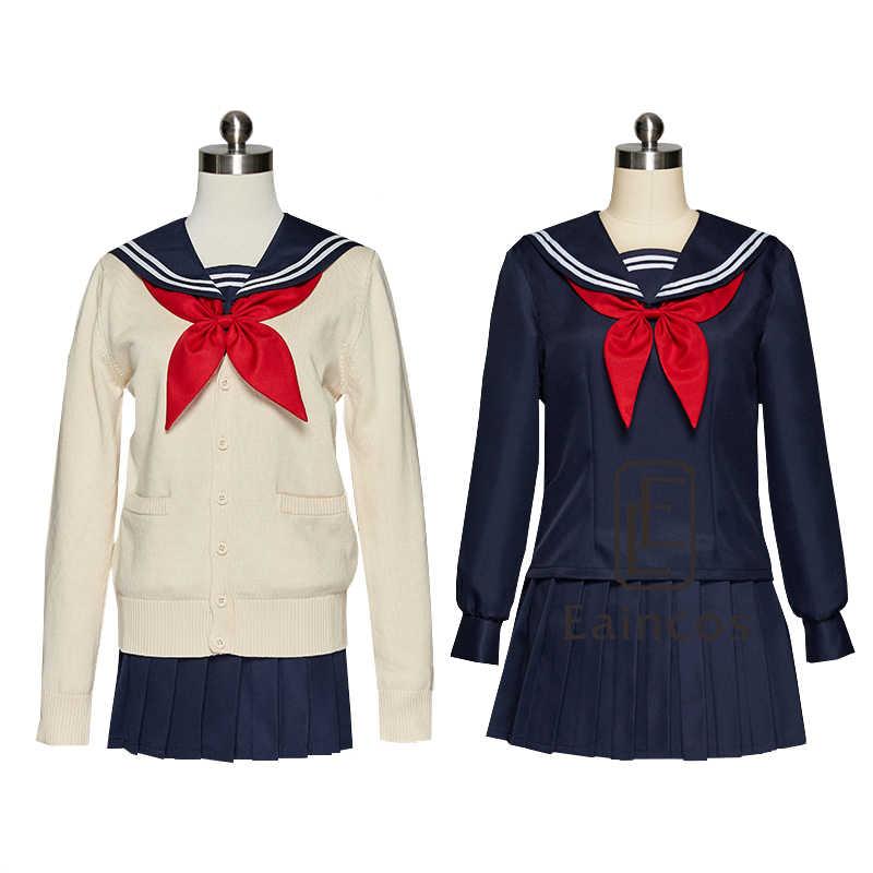 Anime meu herói academia himiko toga uniforme cosplay traje boku nenhum herói academia feminino jk fatos de marinheiro com suéteres