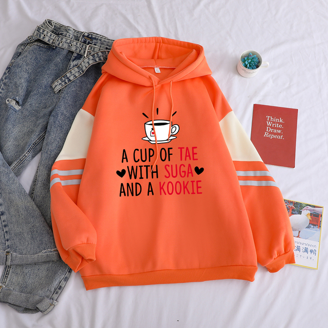 A CUP OF TEA WITH SUGA AND A KOOKIE HOODIE (3 VARIAN)