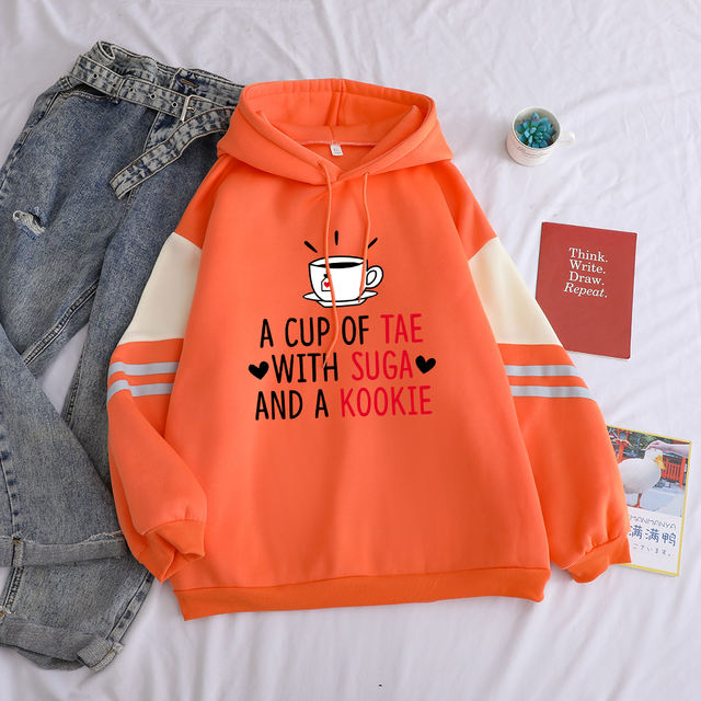 A CUP OF TAE WITH SUGA AND A KOOKIE HOODIE (3 VARIAN)