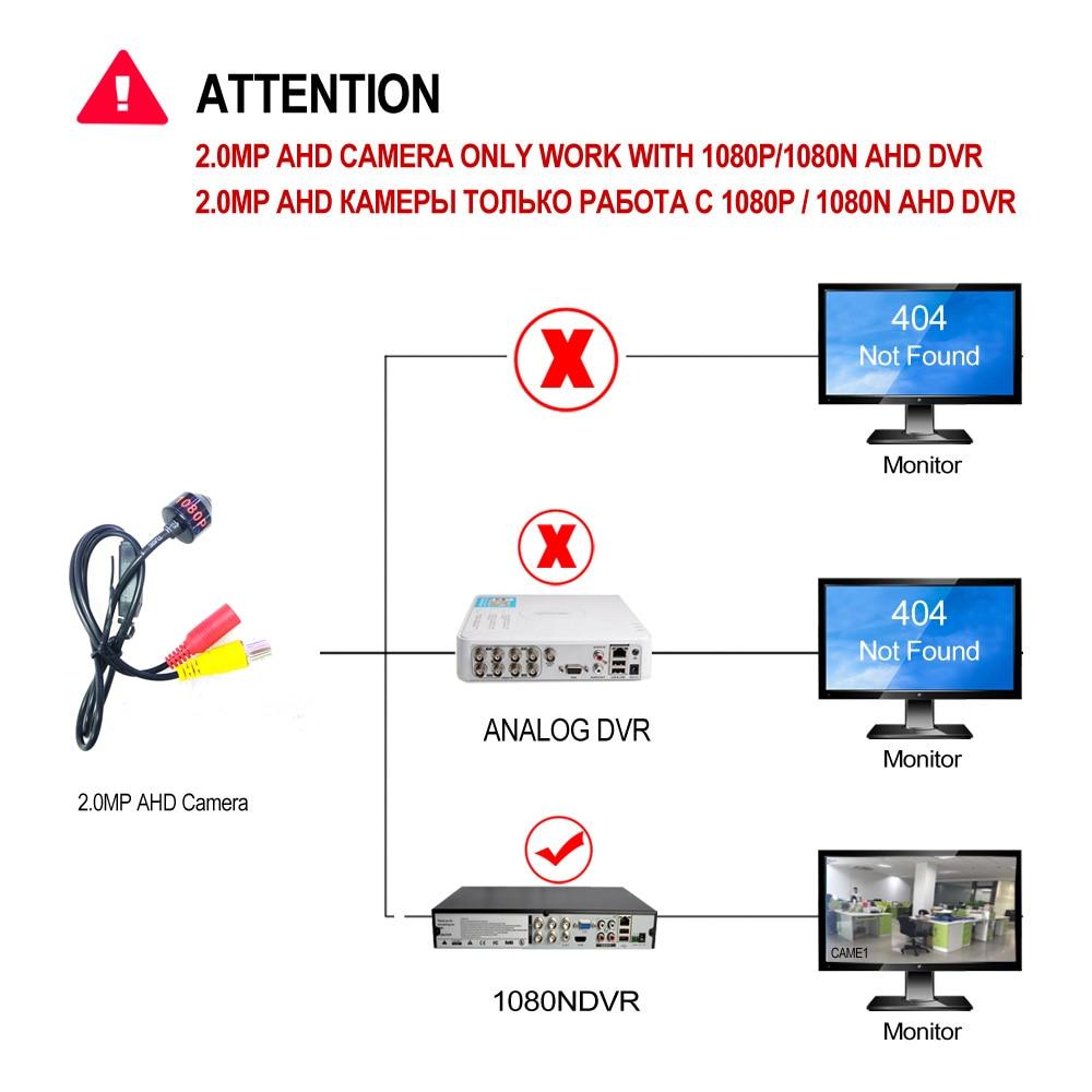 Image 5 - AHD 1080P Mini Camera HD Bullet Camera Metal Housing BNC Port for CCTV AHD DVR SystemSurveillance Cameras   -