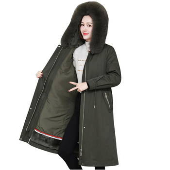 2020 high quality winter parka women rabbit fur Liner removable Fox fur collar coat X-long jacket windproof warm fur coats A3120