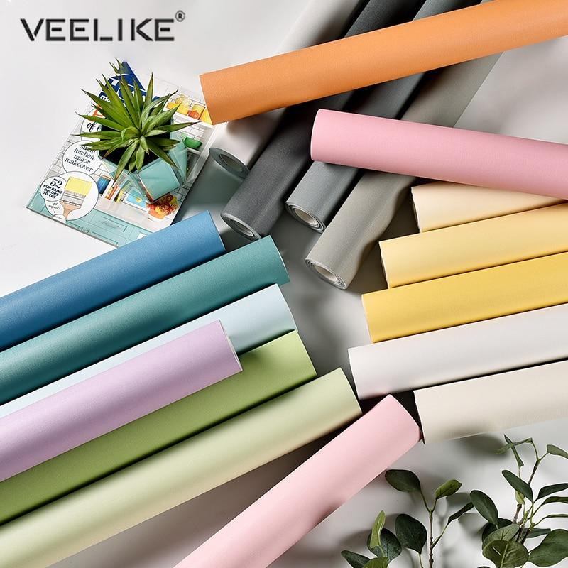 3 Meters Waterproof Self Adhesive Wallpaper For Bedroom Vinyl Desk Contact Paper Roll Removable Furniture Renovation Room Decor
