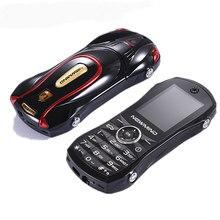 יוקרה רכב צורת קטן נייד טלפון NEWMIND F1 Sim הכפול כרטיס Quad band GSM 1000mAh 1.8 אינץ זעיר מסך מיני נייד celular טלפונים